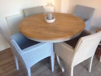 Dining Table And Four Genuine Lusty Lloyd Loom Chairs