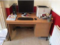 Computer desk wood