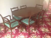Dining room table and chairs set- Mahogany Veneer