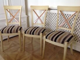 6 FRENCH GRANGE CONSULAT DINING CHAIRS