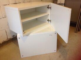 2 No IKEA besta shelf unit with high gloss door