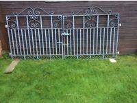 a set of garden drive gates blacksmith made