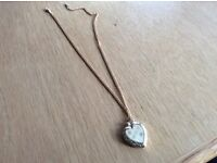 Heart Shaped Locket inscribed with Mother on a gold metal chain