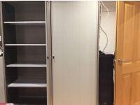 2 Bisley Tambour Office Storage Cupboards