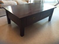 Solid wood coffee table (barker and stonehouse)