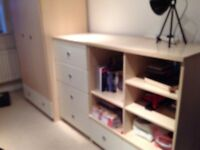 Single wardrobe and Storage Unit.