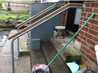 hand rail a pair with all fittings approx size 1300x1400