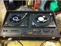 dj decks. twin citronic with built in mcgregor mixer and stereo power amps