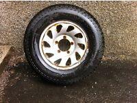 Brand New unused 195R15 100 S Kumho Road Venture 4x4 tyre on a Vitara Wheel