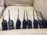 8 used mitex radios prossional