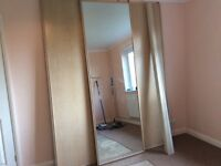 3 Sliding Wardrobe Doors 2 Panel and 1 Mirror