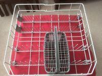 Dishwasher trays top & bottom shelf plus cutlery basket. Excellent condition