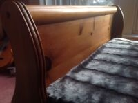 Pair of single beds for sale from Steven Burgess Furniture. Solid wood. Can sell individually.