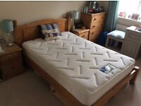 Solid Pine Double Bed (available with or without Silent Night Miracoil 3 mattress).