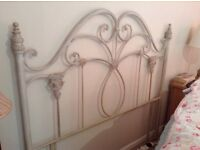"""HEADBOARD FOR 4'6"""" BED METAL VERY PRETTY FRENCH STYLE"""