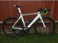 Planet X N2A carbon aero road race bike frame and forks and seatpost. 54cm. Medium.