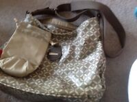 Very good condition storksak bag & bottle warmer
