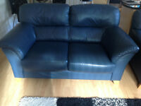 2 x 2-seater leather sofas