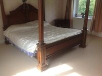Large four poster bed, 4 poster bed, 4 post bed,four post bed