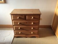 Chest of drawers with bedside cabinet