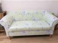 2 Seater Sofa pale green and grey collection only