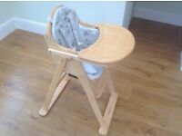 Mothercare Valencia Wooden High Chair with Insert