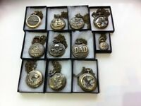 11 assorted pocket watches all different designs brand new