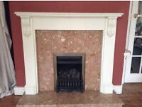 Stylish mantle and fire surround