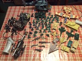 Army/combat toy bundle