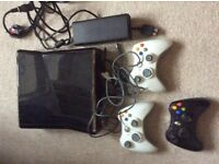 X box 360 game console hard drive not working with 3 controllers