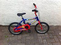 "Raleigh "" Sea Life "" Boys Bike Ages 4-7 £25"