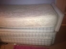 Single bed with separate guest bed