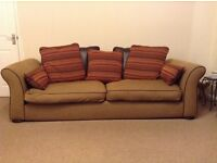 Sofas 4 seater + 3 seater + foot stool