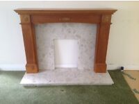 Wood and marble fire surround. £300.00 ono
