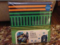 NEXT 2 Pack Double Duvet Coverand Pillowcase Set