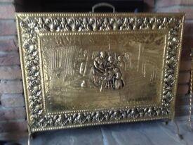 Decorative brass firescreen 650mm x 550mm