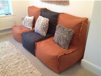 Three bean bag modular couch (from Next) - can be zipped together or separated.