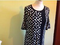 Next Dress Black White Monochrome size 12 New