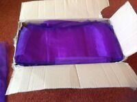 Cadbury purple chair bows