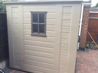 Keter 6x6 Plastic Shed. 9 months old. Excellent condition.
