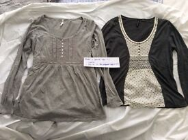 Maternity tops bundle, fit pre-pregnant size 12, vg condition, £12