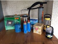Assorted essential camping equipment. Sold separate or as a lot.