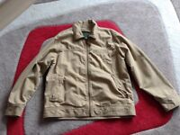 AS NEW MENS TIMBERLAND 100% COTTON JACKET/COAT - LARGE