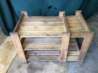 Wooden staging, ideal garden greenhouse, shed, garage.
