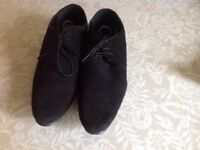 Mens Fashionable Black Suede Shoes, Worn Once,