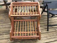 Antique Pine plate rack
