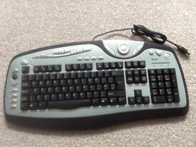 Trust USB Keyboard multi function UK layout, unused - new £10.00. Speakers £10.00