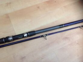 Abu 13 ft multiplier rod and diawa millionaire 7 ht