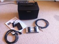 Roland AC-33 Acoustic Guitar Amp + Boss FS6 Footswitch + high quality stereo jack cable for sale