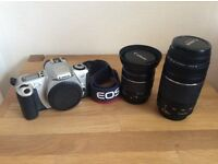 Canon EOS Rebel 2000/300 autofocus reflex camera with 2 x lenses